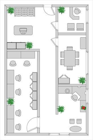 Example of Interior Plant Design at Edmonton location